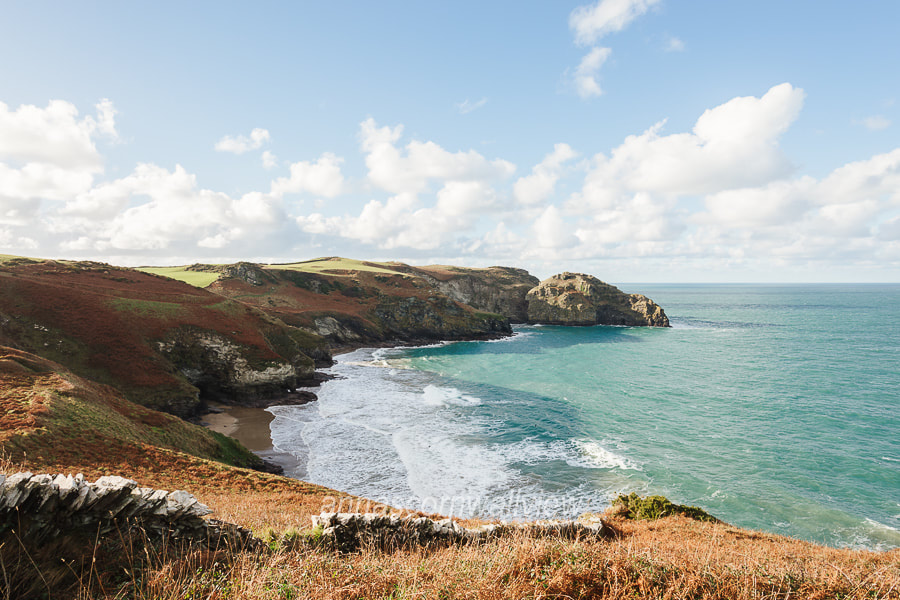 Picture of the view over Benoath Cove, Bossiney Haven, the Willapark headland and Lye Rock