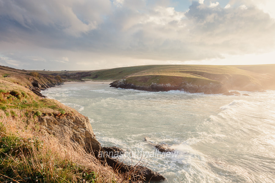 Picture of Polly Joke beach from Pentire Point West