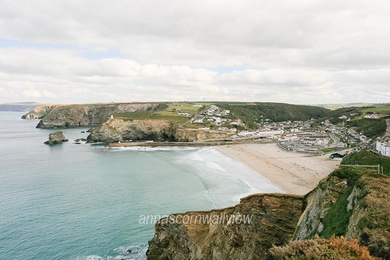Portreath Beach from Western Hill